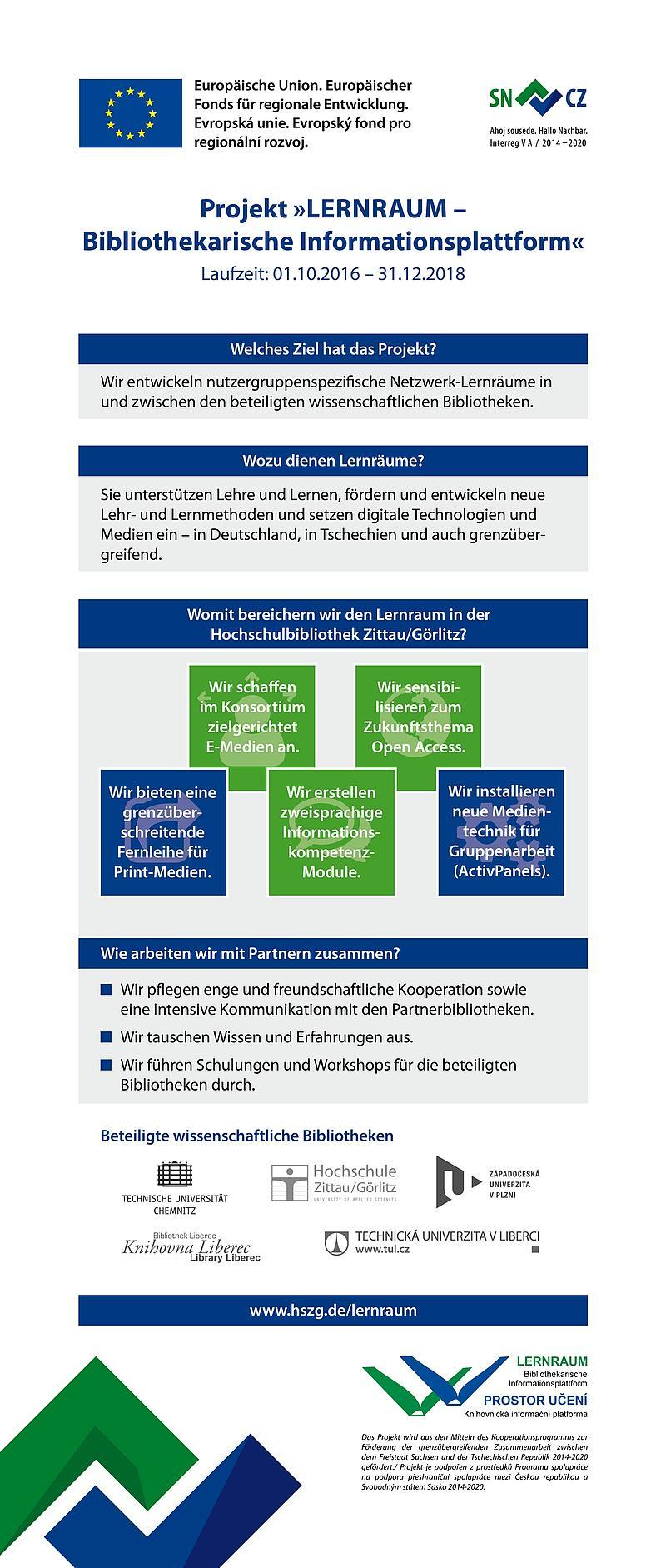 Informationsplakat Projekt Lernraum